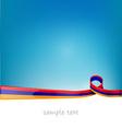 armenia ribbon flag vector image vector image