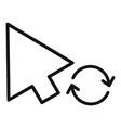 arrow cursor loading icon simple black style vector image