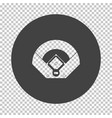 baseball field aerial view icon vector image vector image