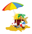beach with stuff art part five vector image vector image