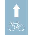 bicycle arrow vector image vector image