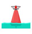 buoy icon cartoon style vector image