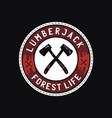 camp badge design outdoor logo vector image vector image