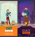 cat show banners vector image vector image