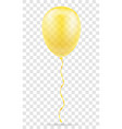 celebratory yellow transparent balloon pumped vector image vector image