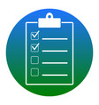 checklist sign white icon in vector image vector image