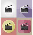 cinema flat icons 08 vector image vector image