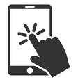 click smartphone flat icon vector image vector image