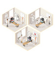 clinical laboratories set isometric vector image vector image