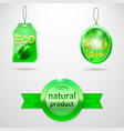 collection-of-3-bio-labels vector image vector image
