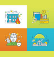 concept - insurance payment vector image