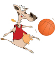 Cow the basketball player cartoon vector image vector image