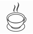 Cup of tea or cofee icon isometric 3d style vector image