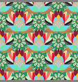cute elegant flowers seamless pattern with vector image