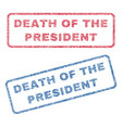 death of the president textile stamps vector image vector image