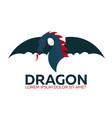 Dragon logo chinese dragon flat