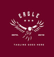 eagle fly logo vector image vector image