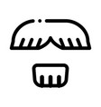 face mustache chin hair icon outline vector image