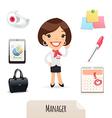 female manager set vector image