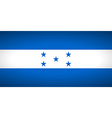 flag honduras vector image vector image