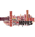 free movie downloads text background word cloud vector image vector image