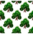 Fresh green spring trees seamless pattern vector image