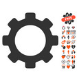 gear icon with love bonus vector image vector image