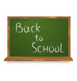 green chalkboard back to school isolated on white vector image