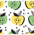 hand drawn seamless pattern with fruit vector image