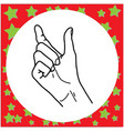 hand gesture hold something vector image vector image