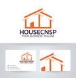 house concept logo design vector image vector image