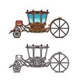 icons retro buggy or chariot for weddings vector image vector image