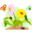 insects and flower vector image vector image