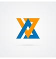 Logo combination of a A and V letter vector image vector image