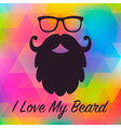 Love Beards Card vector image vector image