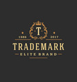 luxury monogram logo template object vector image vector image