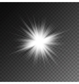 magic white rays glow light effect isolated vector image vector image