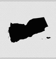 map yemen isolated black on vector image vector image