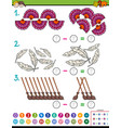 maths subtraction educational game for kids vector image vector image