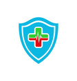 medical heart protection logo icon vector image vector image