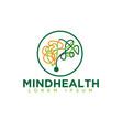 mind logo designs vector image