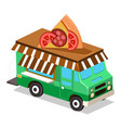 mobile food van vector image vector image