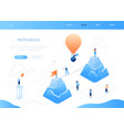 motivation - modern colorful isometric web vector image