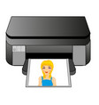 office equipment colour printer vector image
