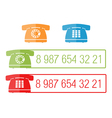 Phone icons with place for number eps10 il vector image