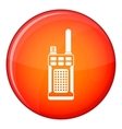 Portable handheld radio icon flat style vector image vector image