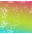 Rainbow Grunge Texture vector image