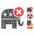 reject republican mosaic icon raggy items vector image vector image
