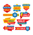 sale tag design badge set discount abstract vector image