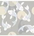 Seamless pattern with carp koi fish and sun vector image vector image
